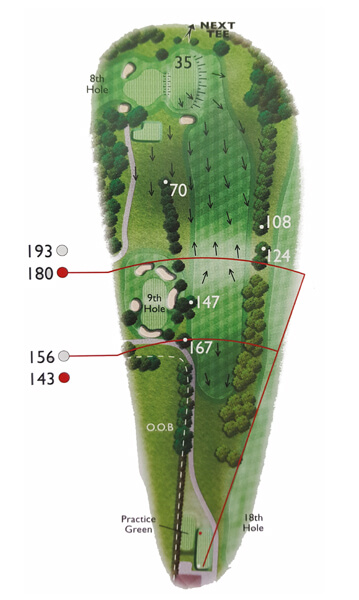 Kingsthorpe Golf Club Course Planner Hole 1
