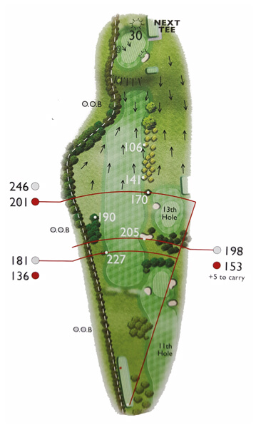 Kingsthorpe Golf Club Course Planner Hole 12