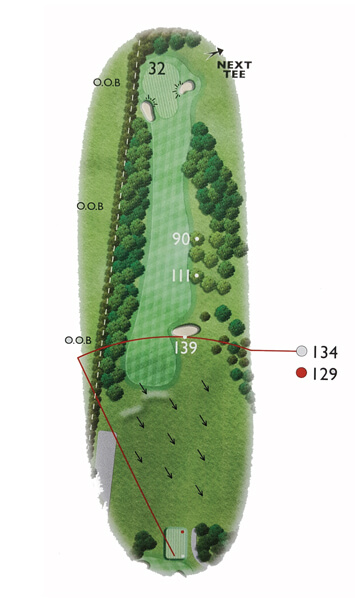 Kingsthorpe Golf Club Course Planner Hole 10