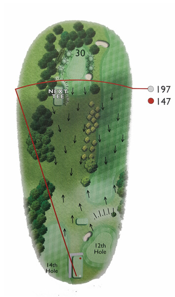 Kingsthorpe Golf Club Course Planner Hole 13