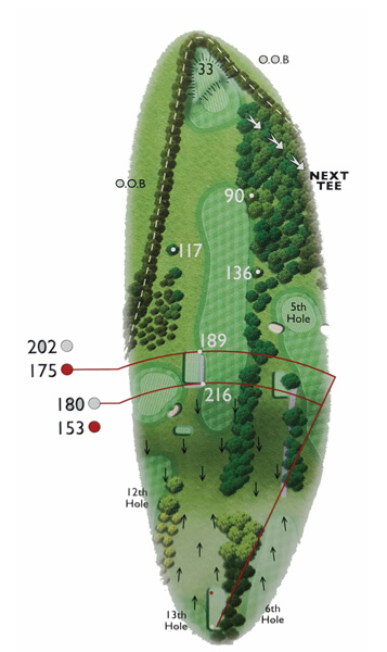 Kingsthorpe Golf Club Course Planner Hole 14