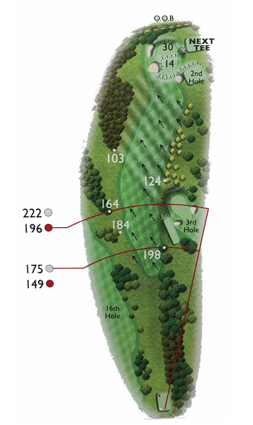 Kingsthorpe Golf Club Course Planner Hole 17