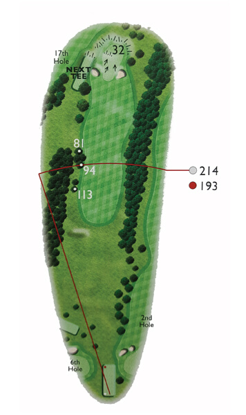 Kingsthorpe Golf Club Course Planner Hole 3