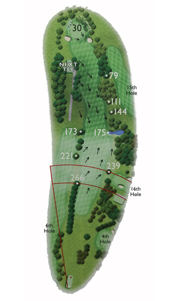 Kingsthorpe Golf Club Course Planner Hole 5