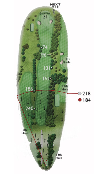 Kingsthorpe Golf Club Course Planner Hole 6