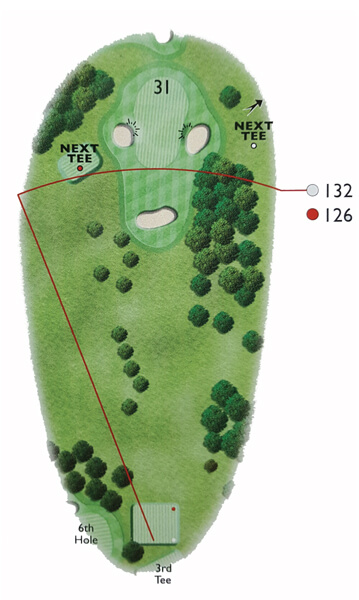 Kingsthorpe Golf Club Course Planner Hole 7