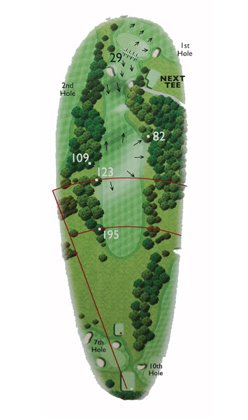 Kingsthorpe Golf Club Course Planner Hole 8