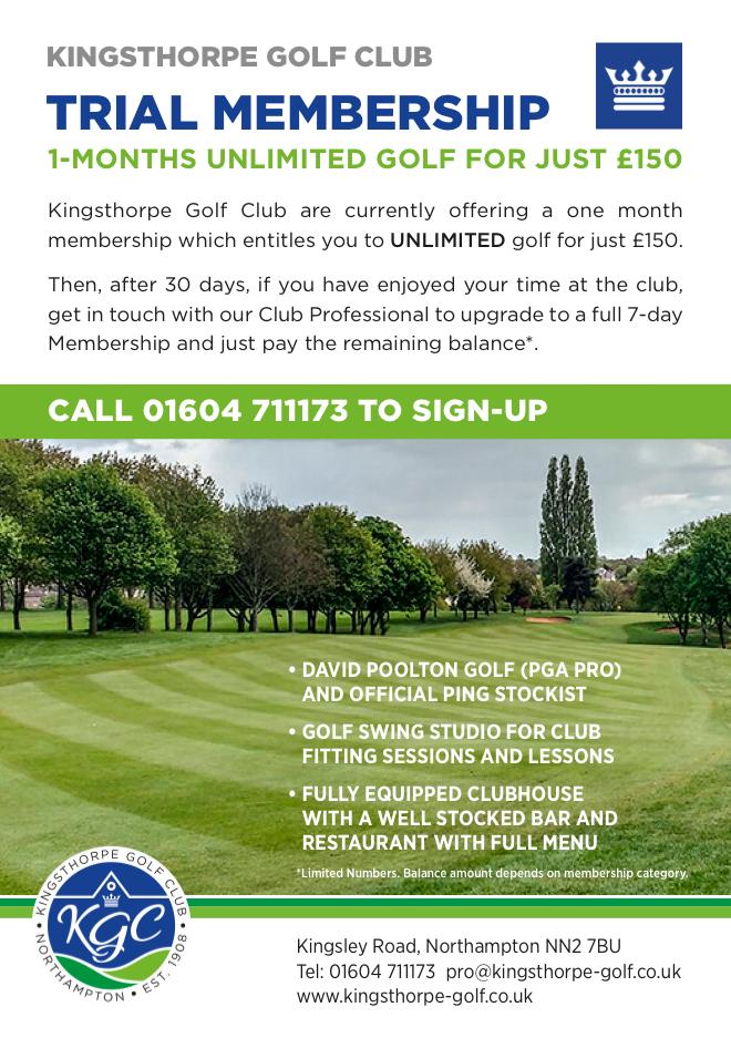 Kingsthorpe Golf Club Trial Membership